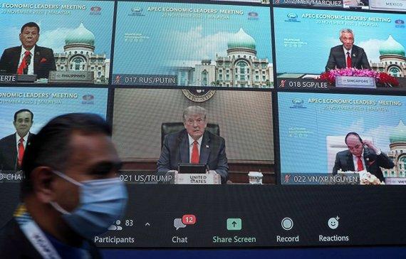 """APEC 참석한 트럼프 """"아직 내가 미 대통령"""""""