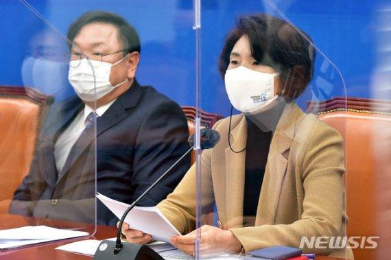 """한정애 """"전월세대책·공수처법 安·劉이 약속한 것...왜 반대하나"""""""