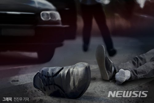 후진하던 SUV 차량에 치여 80대 노인 사망