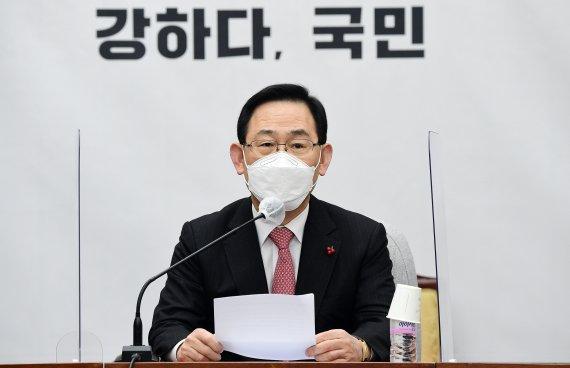 """열받은 주호영 """"문 대통령 허언, 도 넘었다"""""""
