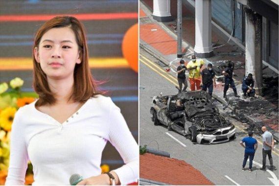 폭발 일으키며 불난 BMW에 뛰어든 26세女