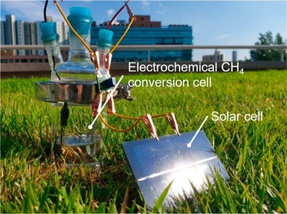 메탄을 태양에너지로 메탄올 만든다
