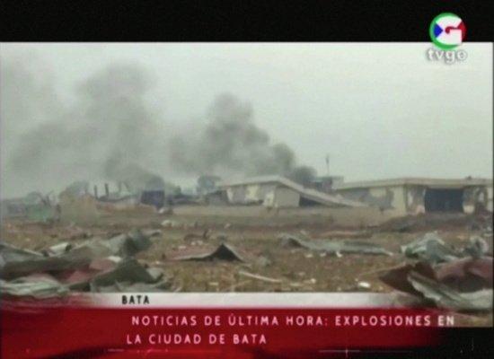 아프리카 적도 기니, 다이너마이트 연쇄 폭발로 엄청난 피해가...