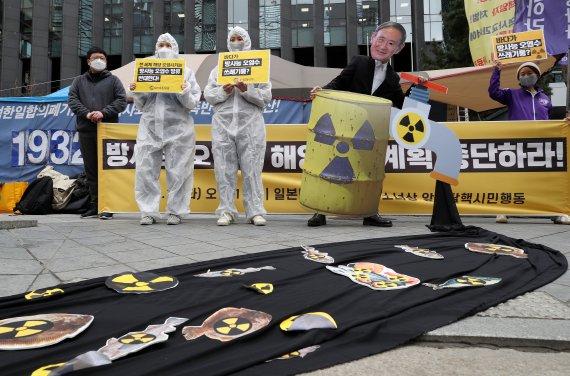 """""""후쿠시마 오염수 희석해 괜찮다고? 총량은 똑같다"""" 환경단체 한목소리"""