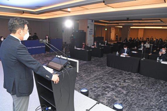 개막사하는 전선익 파이낸셜뉴스 사장