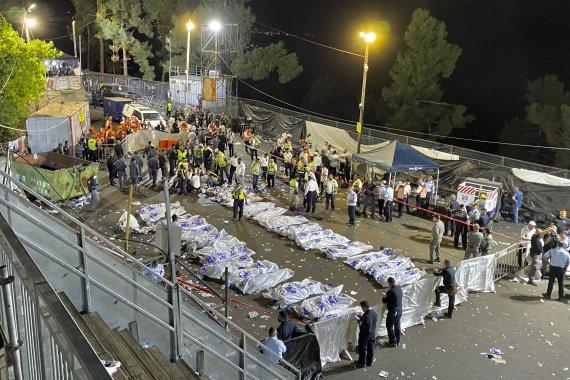 """이스라엘 """"메론산 종교참사 45명 사망 150명 부상"""""""
