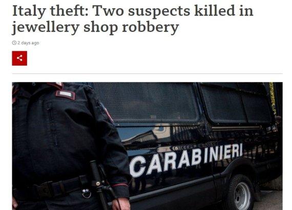 가짜 총 든 보석 강도 2명, 주인 진짜 총에 맞아 즉사