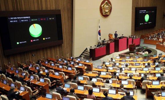 """與 """"전국민 재난금"""" vs. 기재부 """"소득 상위 10~30% 제외"""""""
