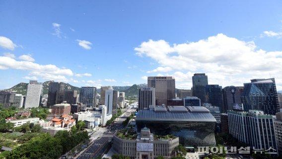 푸르디 푸른 서울 하늘