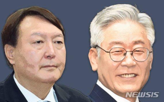 윤석열 38% 이재명 25%…尹, 국민의힘과 동반 상승세