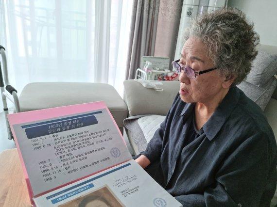 """6·25 3년간 전장 누빈 90세 간호장교 """"부산에서 매일.."""""""