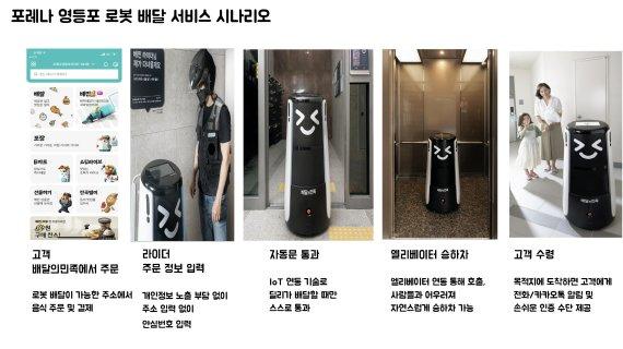 """""""배달로봇이 엘리베이터 타고 현관 앞까지""""..배민"""