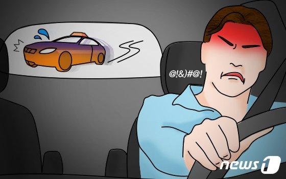경적 울린 아우디 쫒아가 사고 낸 SM5 운전자 집행유예