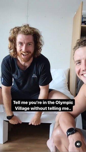 [올림픽] 앉았더니 푹 꺼진 황당 '골판지 침대'…엇갈리는 후기