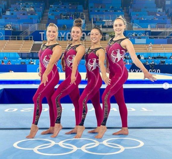 """""""쳐다보지 마세요"""" 노출 유니폼 안입는 올림픽 女 체조 선수들"""