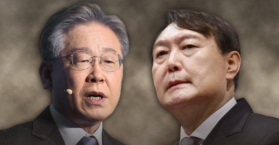 정권교체론 우세 속에도 尹·洪 모두 與후보에 밀려