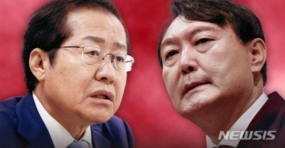 홍준표 32.6% vs 윤석열 27.5%…野 지지층선 尹, 洪에 앞서