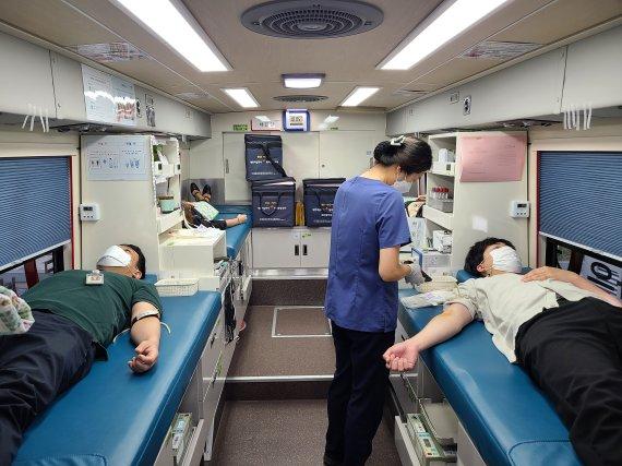 한국전력기술 임직원 100여명 헌혈 참여