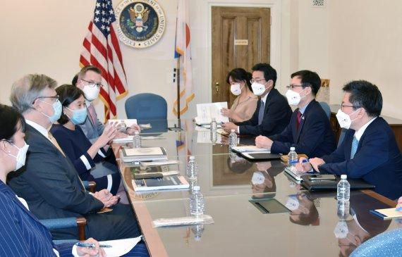 """여한구 """"美 USTR과 우호적 대화…공급망 긴밀한 협력 필요"""""""
