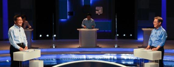 이재명 vs 이낙연, 기본소득 2라운드…광주 TV토론서 '격돌'