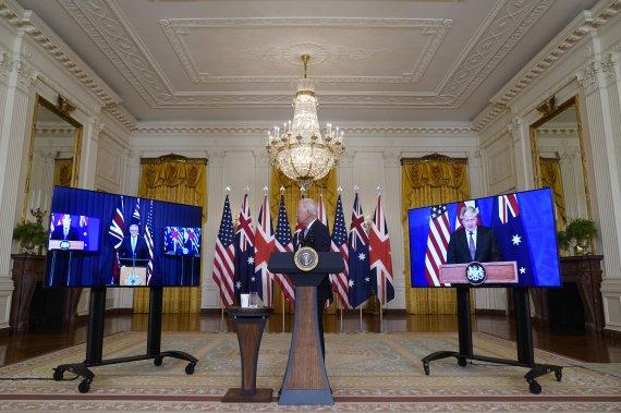 美·英·호주 안보 파트너십 발표…호주에 핵잠수함 기술 공유