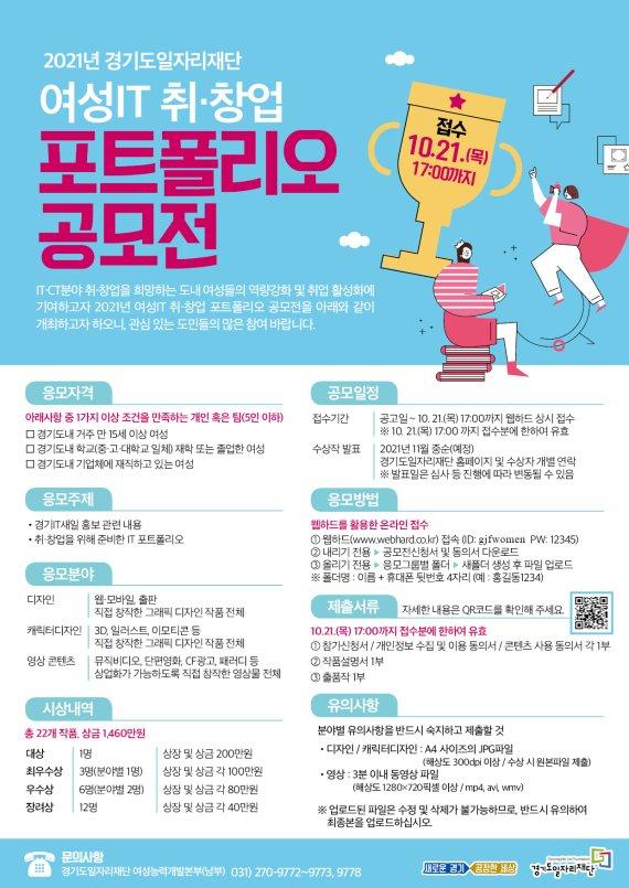 경기도일자리재단, '여성IT 포트폴리오 공모전' 개최