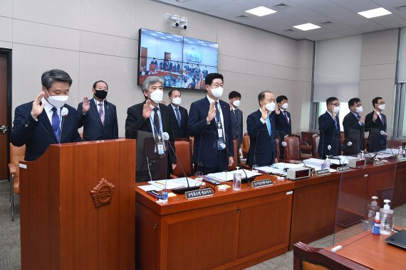'비위 난무' 중기부 산하기관 국감 질타…부실정책 도마