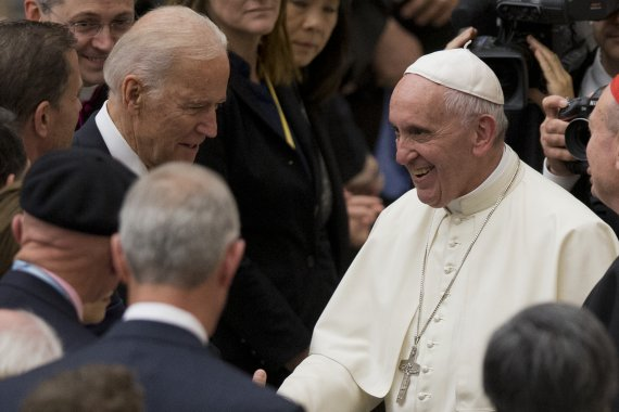 가톨릭 신자 바이든, 29일 바티칸서 교황과 만난다