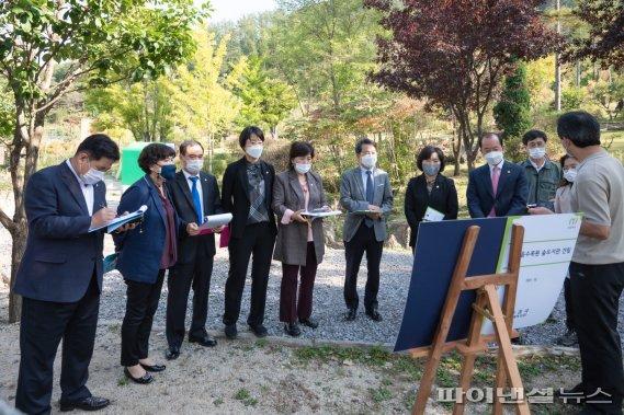 남양주시의회 청학리계곡 복원현장 의정활동