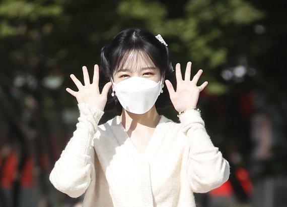 [뉴스1 ★] 조유리, 가을 동화에서 방금 튀어나온 요정 미모