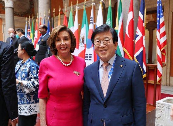 박병석, 이탈리아·이집트 순방 마무리…종전선언·세일즈 외교 성과
