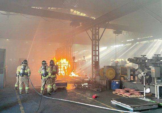 대구 주물공장 쇳물 화재, 1명 부상