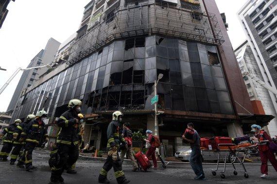 '46명 사망' 대만 화재 건물 주민 다수 치매·거동 불편 노인(종합2보)